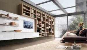 Мебельная стенка комбинированная в стиле модерн