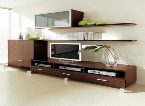 Мебельная горка в стиле модерн (четыре предмета)