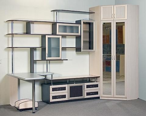 Мебельная стенка, шкаф и рабочее место