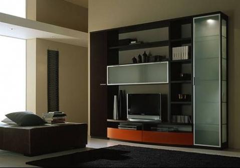 Мебельная стенка со шкафами-пеналами