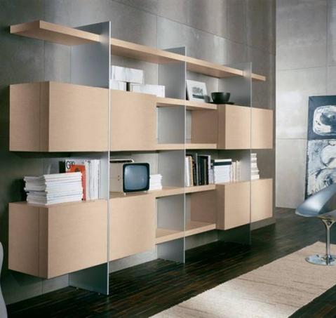 Мебельная стенка-стеллаж